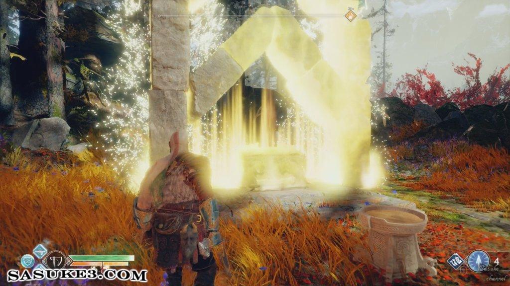 川沿いの道_伝説の宝箱※ルーン召喚:ヘラジカの光